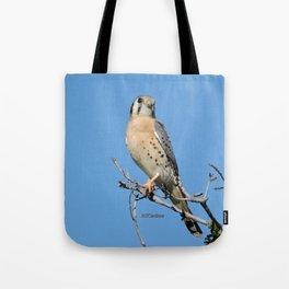A Kestrel Says Hello Tote Bag