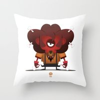 leo Throw Pillows featuring LEO by Angelo Cerantola