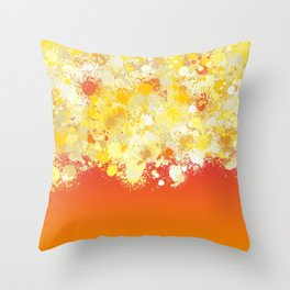paint splatter on gradient pattern bli Throw Pillow