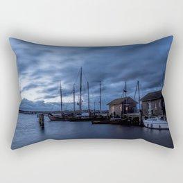 Blue hour at harbour Rectangular Pillow