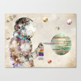 space graffiti Canvas Print