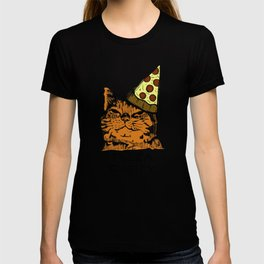 Pizza Party Cat: Funny Animal Kitty T-shirt