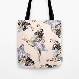 Pug Ballerina in Dog Ballet | Swan Lake  Tote Bag