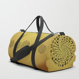 Mandala of Love Symbols from Ancient Cultures on Papyrus Duffle Bag