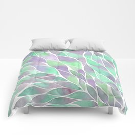 Feathers painting watercolors Comforters
