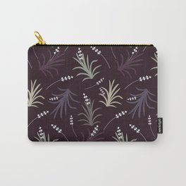 Flowering Grass in Plums and Greens Carry-All Pouch