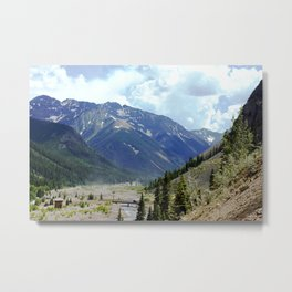 Looking Downstream toward Silverton from the Sunnyside Mill at Eureka Metal Print