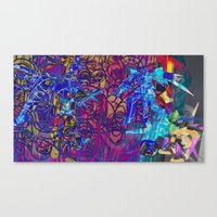 gundam Canvas Prints featuring Gundam Shades by Invisible Cloud Empire