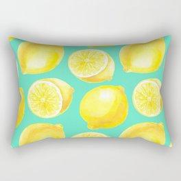 Watercolor lemons pattern Rectangular Pillow