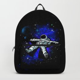 Astronaut Playing in Galaxy like Snow  Backpack