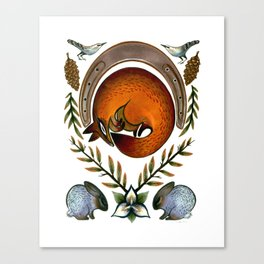 The Fox Lay Dying Canvas Print