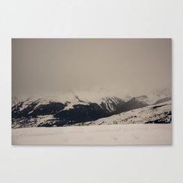 Mont Blanc vintage Canvas Print