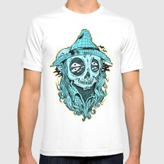 scared crow MEDIUM Mens Fitted Tee White
