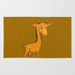 Giraffe - Sepia Brown Rug