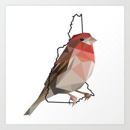 New Hampshire – Purple Finch Art Print