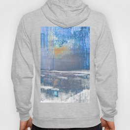Blue Color Patches Hoody