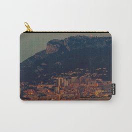 Panoramic view of Montecarlo Principality of Monaco before sunrise blue hour Carry-All Pouch