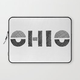 Ohio Black and White Laptop Sleeve