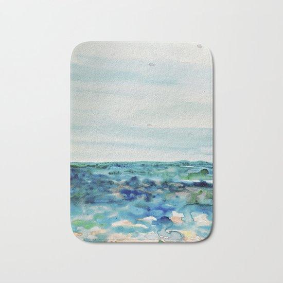 Miami Beach Watercolor #8 Bath Mat