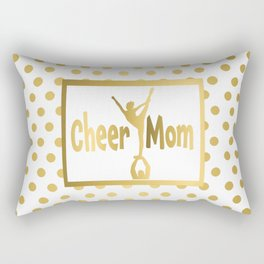 Cheer Mom Gold Dot Design Rectangular Pillow