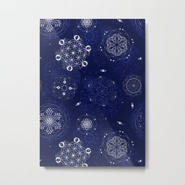 Snowy night Metal Print
