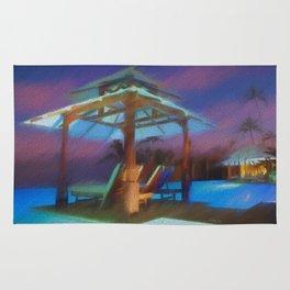Tropical Nightscape Rug