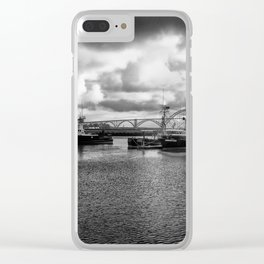 Yaquina Bay Harbor Clear iPhone Case