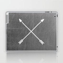gray crossed arrows Laptop & iPad Skin