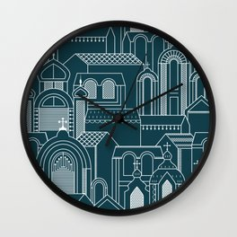 Ukrainian Church Monochrome Wall Clock