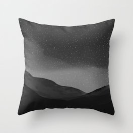 Evening Embrace Atop The Mountain Throw Pillow