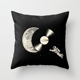 Tha Dark Side of the Moon Throw Pillow