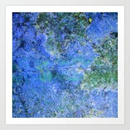 Moment of Epiphany: Royal Blue Version Art Print
