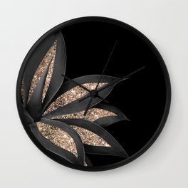 Agave Finesse Glitter Glam #8 #tropical #decor #art #society6 Wall Clock