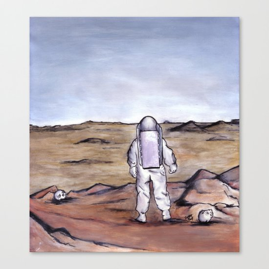 Rust Coloured Soil Canvas Print