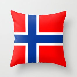 Norway country flag Throw Pillow