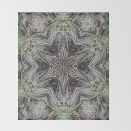 Crystal Leaf Star Throw Blanket