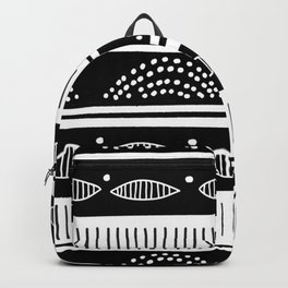 Blac ad white tribal pattern Backpack