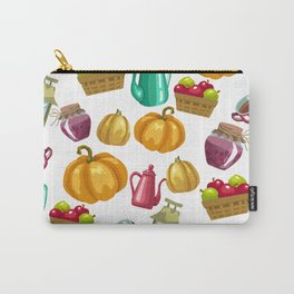 Autumn  Pattern with Food and Drink and Lamp Carry-All Pouch