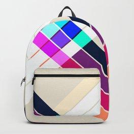 Colorful Summer Retro Style Stripes Inciona Backpack