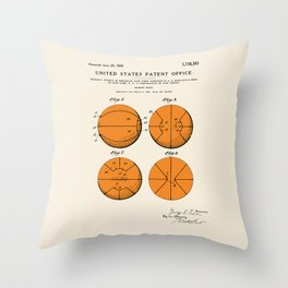 Basketball Patent Throw Pillow