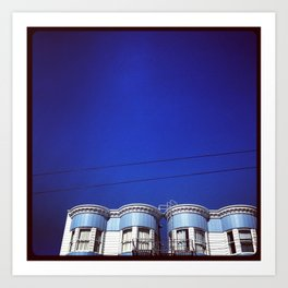 Blue on Blue san Francisco Art Print
