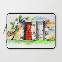 One Of Two Doors Laptop Sleeve
