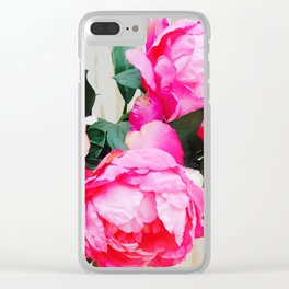 Ana Couper Peony Pop Clear iPhone Case