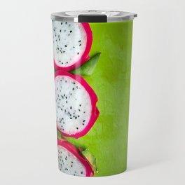 Dragonfruit on a Cutting board Travel Mug
