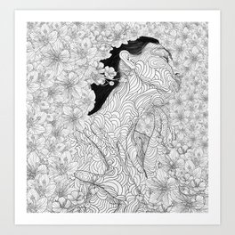 Muse and Creation Art Print