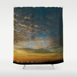 Viewing the Sunset Shower Curtain