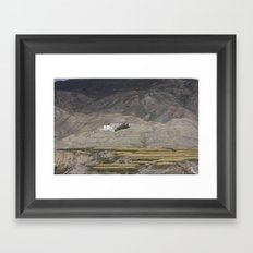 Home in Lo Manthang Framed Art Print