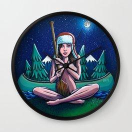 Canoe Girl Wall Clock