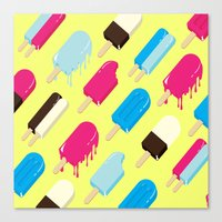 popsicle Canvas Prints featuring Popsicle by Sher Mavro ART