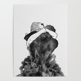 Impressive hug. Poster